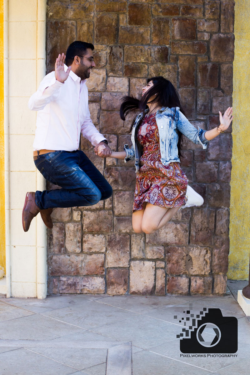 Pre Wedding Photo Shoot jumping shot