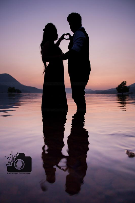 Indian pre wedding shoot sunset