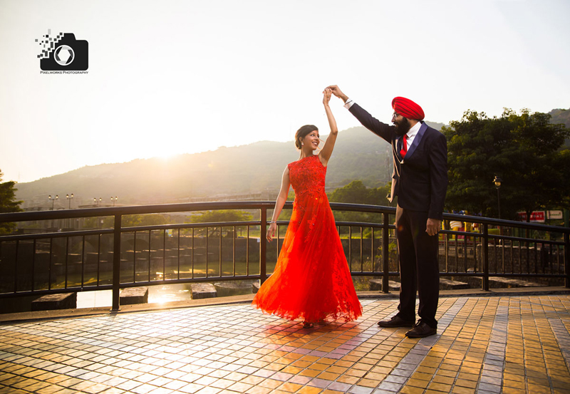 punjabi pre wedding shoot twirl