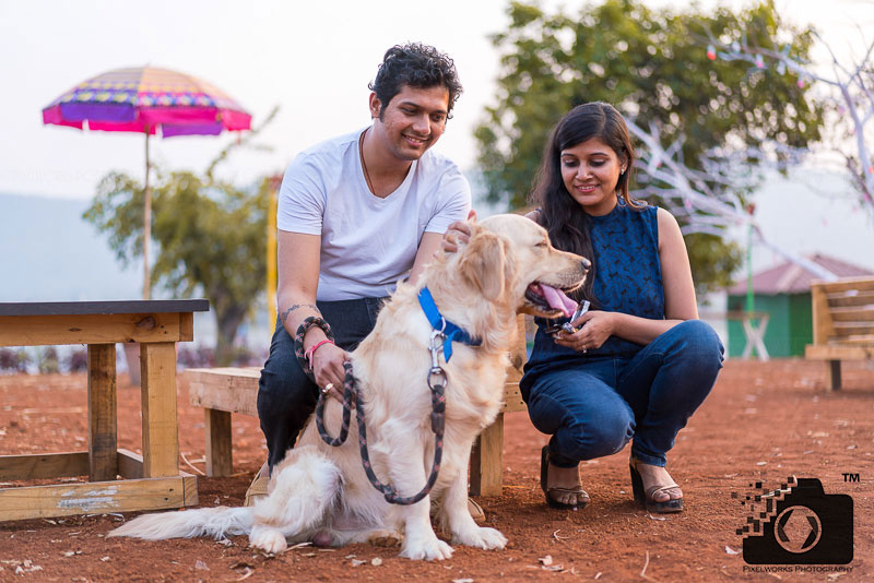 Pre Wedding Shoot Poses with pets
