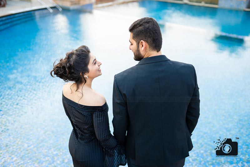 pre wedding shoot dresses black off shoulder